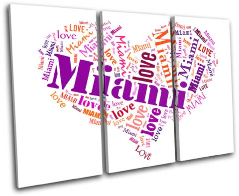 Miami Heart I Love Typography - 13-0253(00B)-TR32-LO